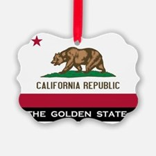 California State Flag Ornament