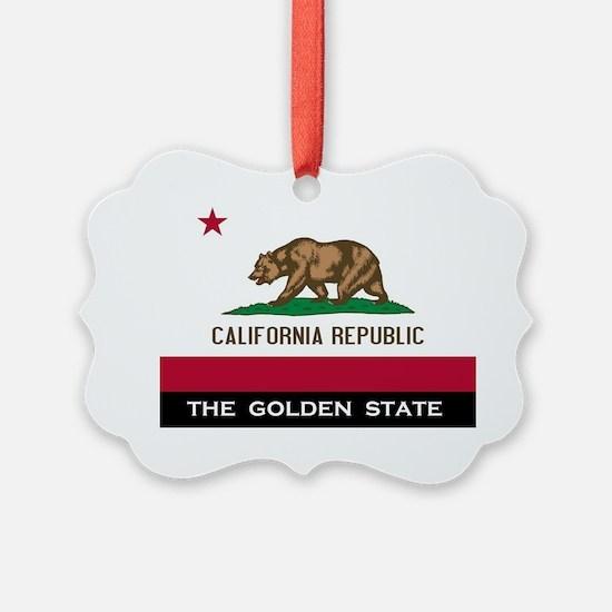 California State Flag Ornament