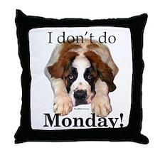Saint Monday Throw Pillow