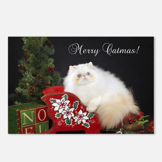 Himalayan Cat Christmas C Postcards (Package of 8)
