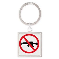 Ban Assault Weapons Square Keychain