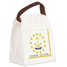 Rhode Island State Flag Canvas Lunch Bag
