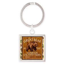 Best Seller Bear Square Keychain