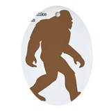 Bigfoot sasquatch Oval Ornaments