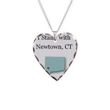 I Stand with Newtown, CT - bl Necklace