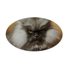 Colonel Meow scowl face Oval Car Magnet