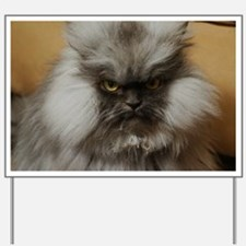 Colonel Meow scowl face Yard Sign