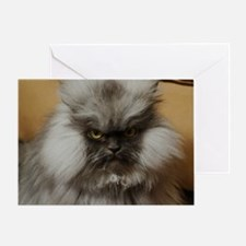 Colonel Meow scowl face Greeting Card