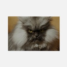 Colonel Meow scowl face Rectangle Magnet