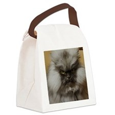 Colonel Meow scowl face Canvas Lunch Bag