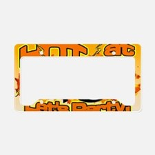 hot at 40 Flames Party License Plate Holder