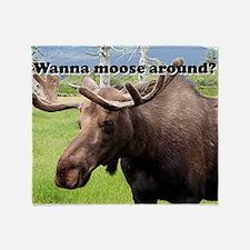 Wanna moose around? Alaskan moose Throw Blanket