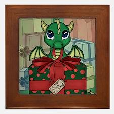 Baby Dragon XMAS Framed Tile