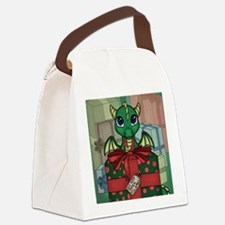 Baby Dragon XMAS Canvas Lunch Bag