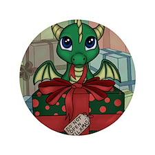 """Baby Dragon XMAS 3.5"""" Button"""