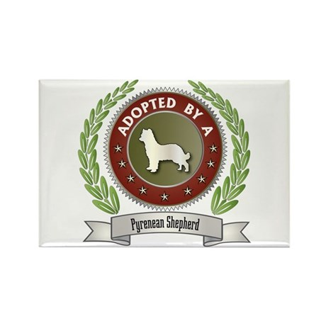 Pyrenean Adopted Rectangle Magnet (10 pack)