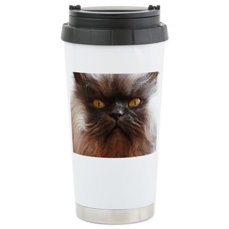 Colonel Meow smells sco Stainless Steel Travel Mug