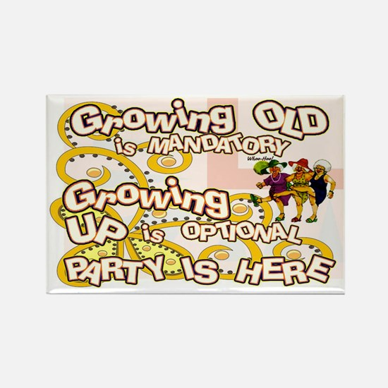 growing old women party Rectangle Magnet
