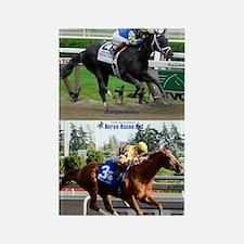 Horse Racing Notebook Rectangle Magnet