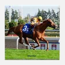 Horse Racing Clock Tile Coaster