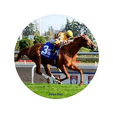 "Horse Racing Clock 3.5"" Button"