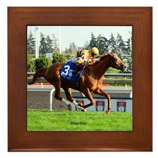 Horse Racing Clock Framed Tile