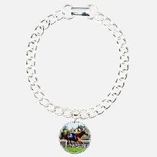 Horse Racing Clock Bracelet