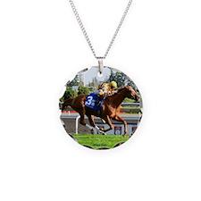 Horse Racing Clock Necklace
