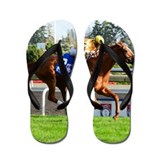 Horse race Flip Flops