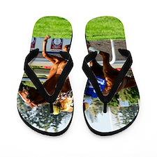 Horse Racing Clock Flip Flops