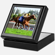 Horse Racing Clock Keepsake Box