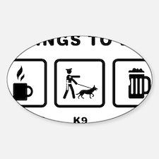 K9-Police-ABH1 Sticker (Oval)