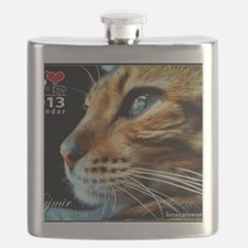 Cover Bengal Cat Close up Flask