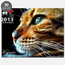 Cover Bengal Cat Close up Puzzle