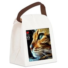 Cover Bengal Cat Close up Canvas Lunch Bag