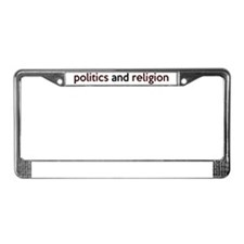 politicsbumper License Plate Frame