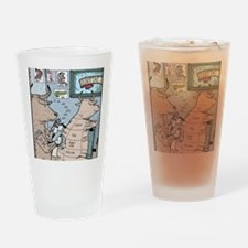 Bovine Tattoos Drinking Glass