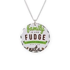 Funny Family Fudge Quote Necklace