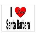 I Love Santa Barbara Small Poster