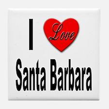I Love Santa Barbara Tile Coaster