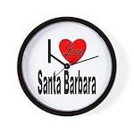 I Love Santa Barbara Wall Clock