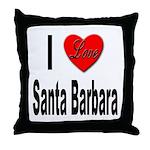 I Love Santa Barbara Throw Pillow