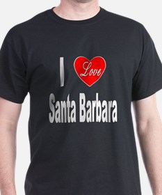 I Love Santa Barbara (Front) T-Shirt