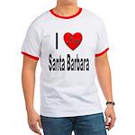 I Love Santa Barbara Ringer T