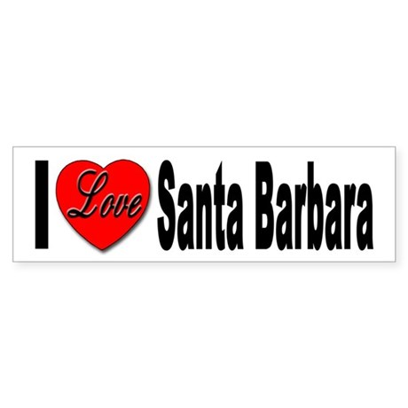 I Love Santa Barbara Bumper Sticker