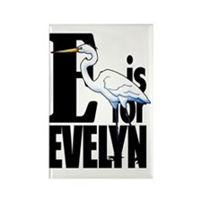 E is for Evelyn Rectangle Magnet