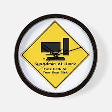 SysAdmin Zone Wall Clock