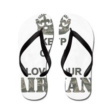 Keep Calm and LOVE Your Airman Flip Flops