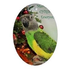 ChristmasSenegal Oval Ornament