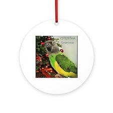 ChristmasSenegal Round Ornament